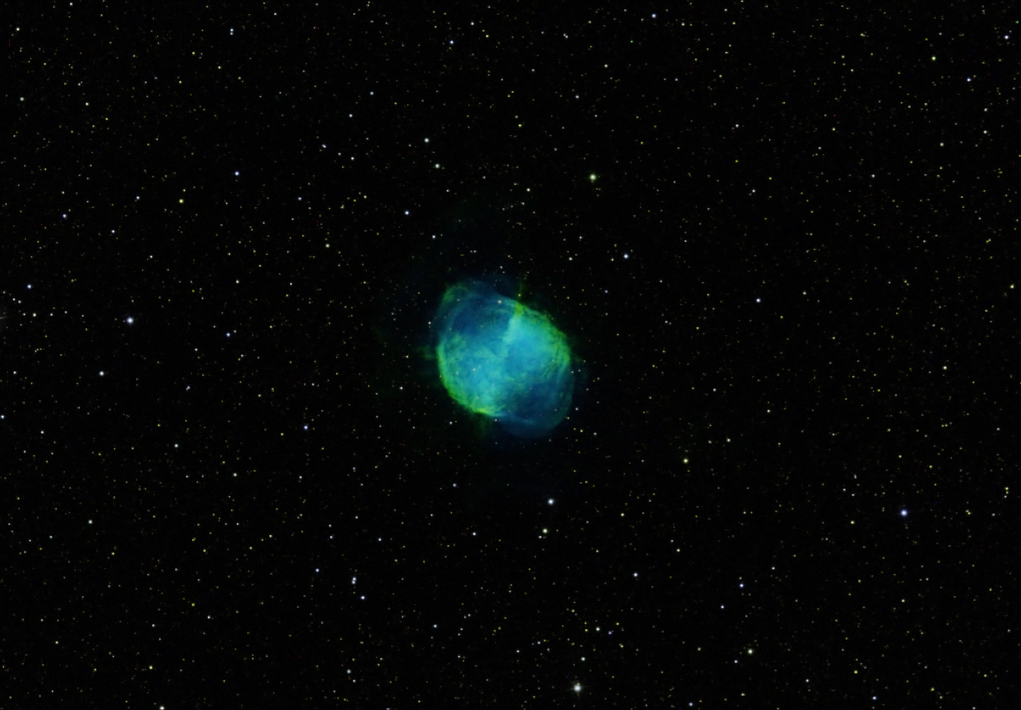 M27 Dumbbell Nebula By Vic Eden