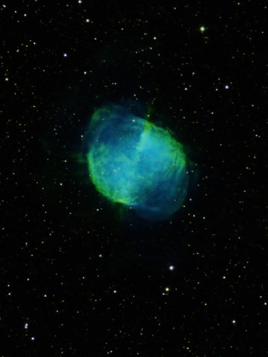 M27 The Dumbbell Nebula By Vic Eden