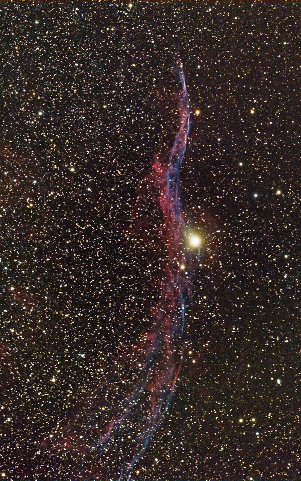 NGC 6960 The Veil Nebula By Victor Eden